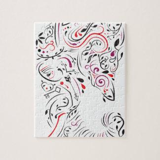 elephant ornate jigsaw puzzle