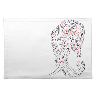 elephant ornate placemat