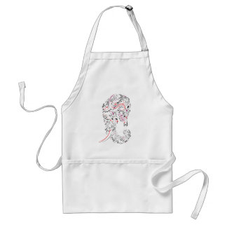 elephant ornate standard apron