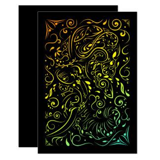 elephant ornate summer fade card