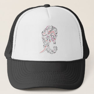 elephant ornate trucker hat