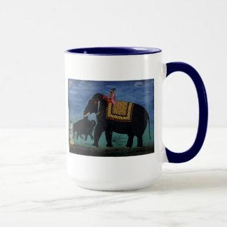 Elephant Painting Mug