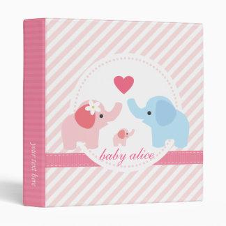 Elephant Parents and Baby Vinyl Binders