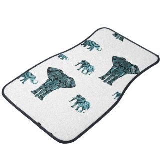 Elephant Pattern Car Mat