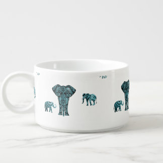 Elephant Pattern Chili Bowl