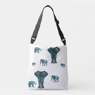 Elephant Pattern Crossbody Bag
