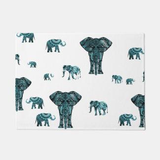Elephant Pattern Doormat