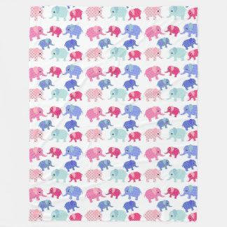 Elephant Pattern Fleece Blanket