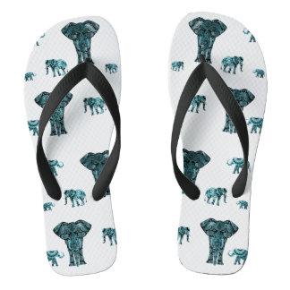 Elephant Pattern Flip Flops