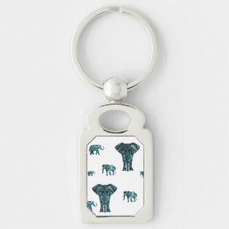 Elephant Pattern Keychain