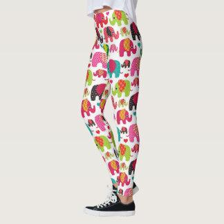 Elephant Pattern leggings printed