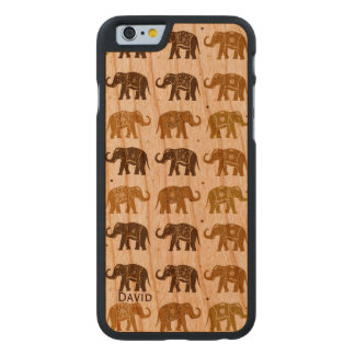 Elephant Pattern Wooden iPhone 6 Case Carved® Cherry iPhone 6 Slim Case