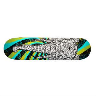 Elephant Peace Stella Aqua Skate Board Deck