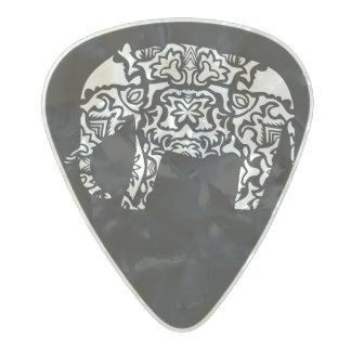 Elephant Pearl Celluloid Guitar Pick
