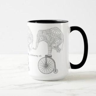 Elephant Penny Farthing Bicycle Balance Mug
