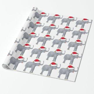 Éléphant Père Noël de Noël mignon Papiers Cadeaux