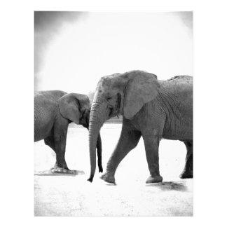 elephant personalized letterhead