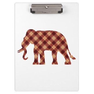 Elephant plaid clipboard