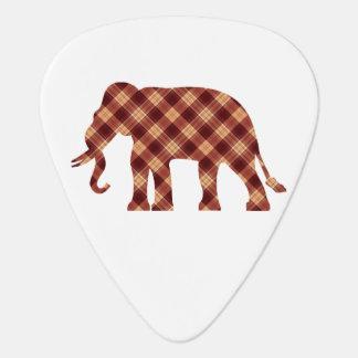 Elephant plaid guitar pick