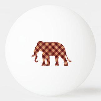 Elephant plaid ping pong ball