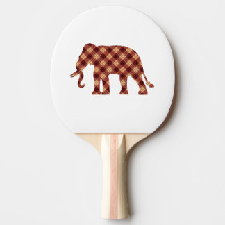 Elephant plaid ping pong paddle