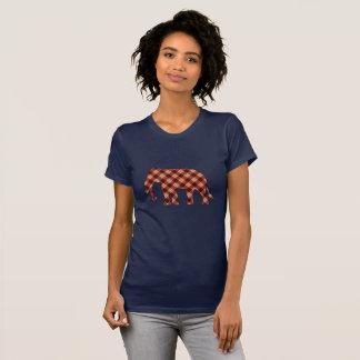 Elephant plaid T-Shirt
