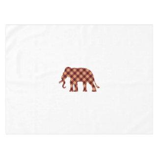 Elephant plaid tablecloth