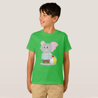 Elephant plays ball T-Shirt