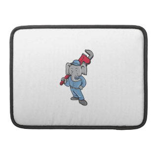 Elephant Plumber Monkey Wrench Cartoon MacBook Pro Sleeves