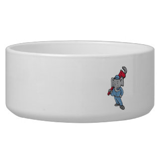 Elephant Plumber Monkey Wrench Cartoon Pet Food Bowls