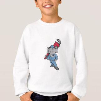 Elephant Plumber Monkey Wrench Cartoon Sweatshirt