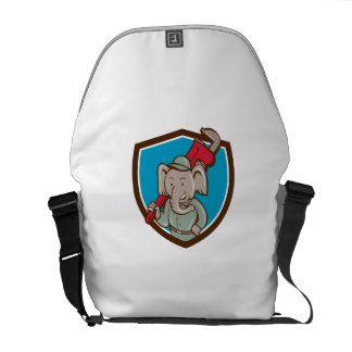 Elephant Plumber Monkey Wrench Crest Cartoon Commuter Bags