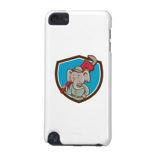 Elephant Plumber Monkey Wrench Crest Cartoon iPod Touch (5th Generation) Cases