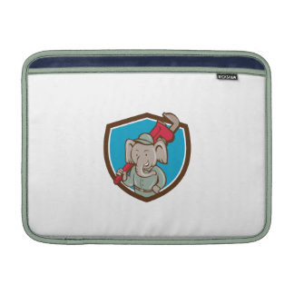 Elephant Plumber Monkey Wrench Crest Cartoon Sleeves For MacBook Air