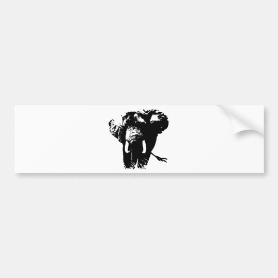 Elephant Pop Art Bumper Sticker