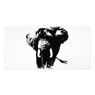 Elephant Pop Art Picture Card