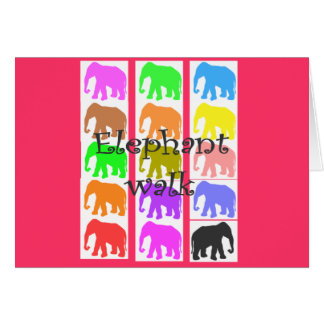 Elephant PopArt Gifts Cards
