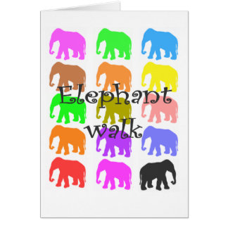 Elephant PopArt Gifts Greeting Card