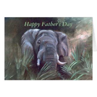 Elephant Portrait, Happy Father's Day Card
