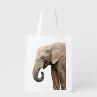 Elephant Profile Reusable Grocery Bag