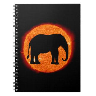 Elephant Profile Solar Eclipse Notebook