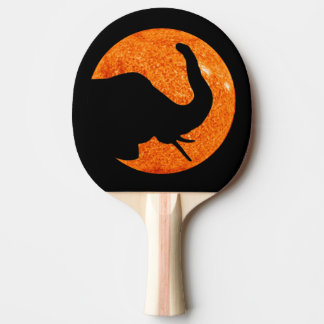 Elephant Profile Solar Eclipse Shadow Ping Pong Paddle