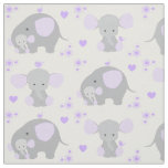 Elephant Purple Safari Animal Nursery Baby Girl Fabric