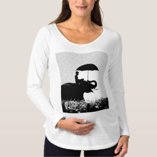 Elephant rain Art-  Maternity Long Sleeve T-Shirt