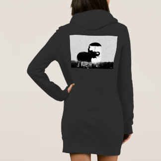 Elephant rain Art- Women's Hoodie Dress