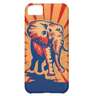 Elephant Retro Style iPhone 5C Cover