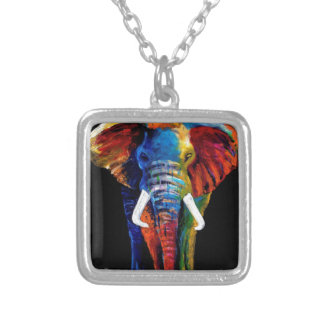 ELEPHANT RETRO STYLE SILVER PLATED NECKLACE