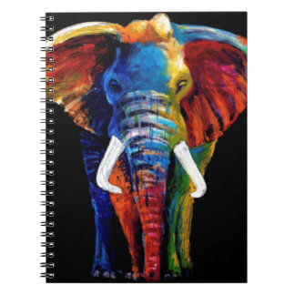 ELEPHANT RETRO STYLE SPIRAL NOTEBOOK