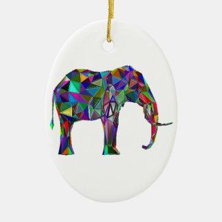 Elephant Revival Ceramic Oval Ornament