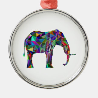Elephant Revival Silver-Colored Round Ornament